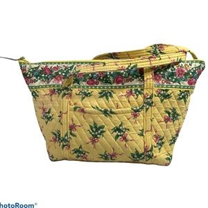 Vera Bradley HOPE Yellow Floral MILLER Tote Bag